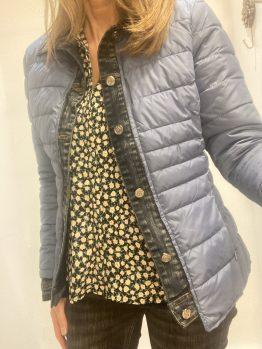 Doudoune finition jean bleu